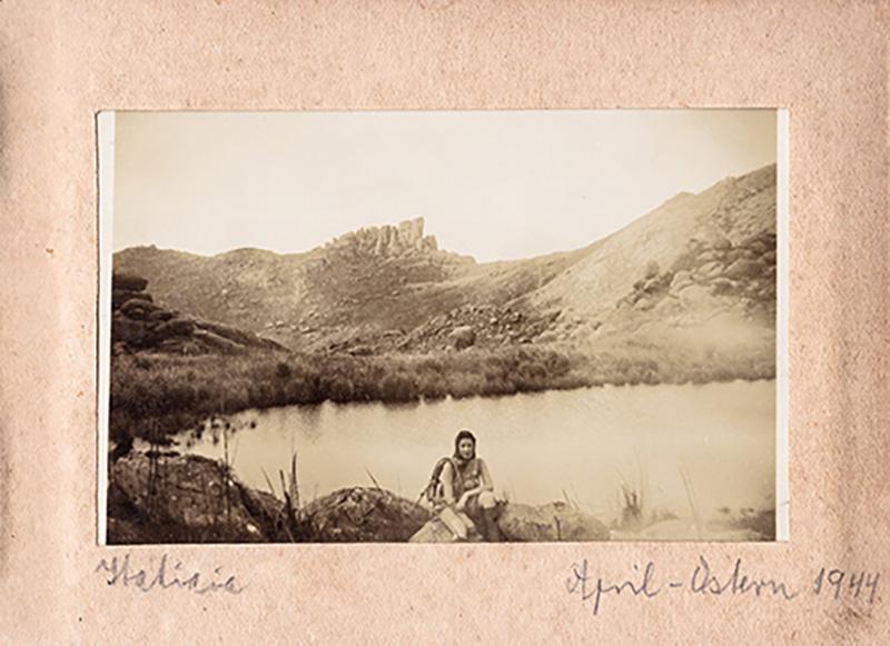 Judy Valentin em Itatiaia (foto Gerhard Valentin, 1944)