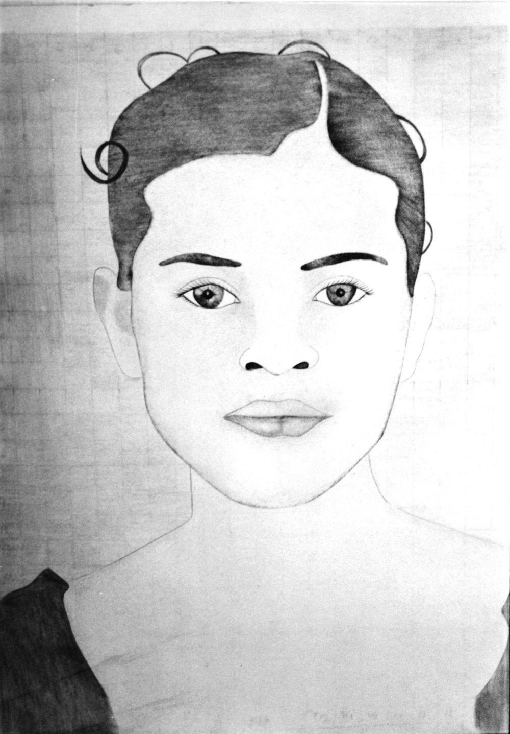 Retrato falado de Neyra Cervantes, baseado na memoria de sua mãe. Mayra Martell