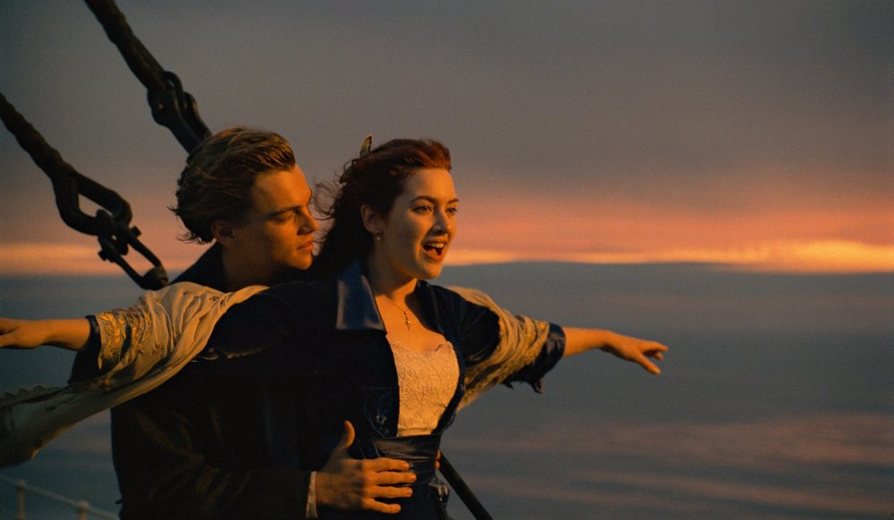 A famosa cena com Leonardo Decaprio e Kate Winstlet. Amor e tragédia. Fato e ficção.