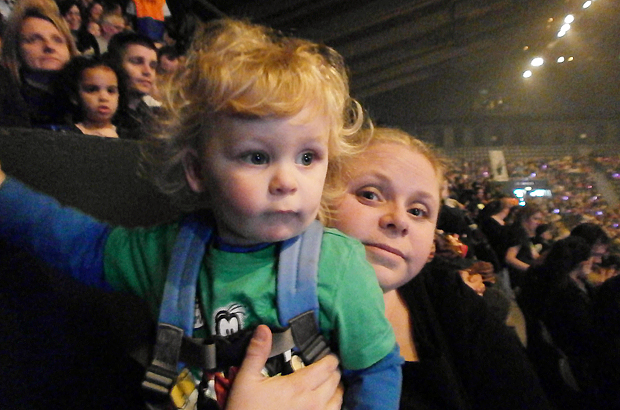 Jacob and Adele having fun at the CBeebies Justin & Friends live tour