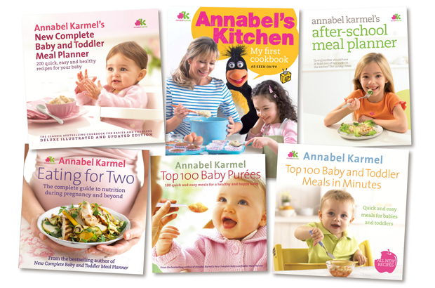 Some of the many books available from Annabel Karmel