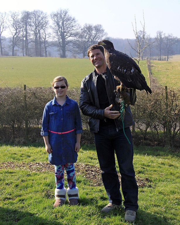 Amber, Steve and Imber the bald eagle