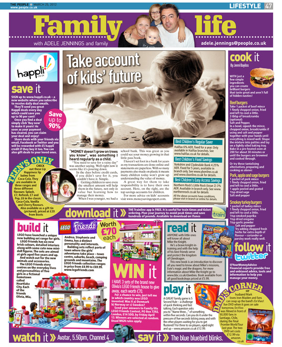 Published in The Sunday People, March 25, 2012