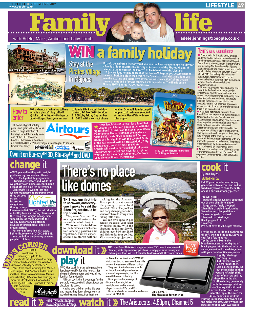 Published in The Sunday People, September 9, 2012