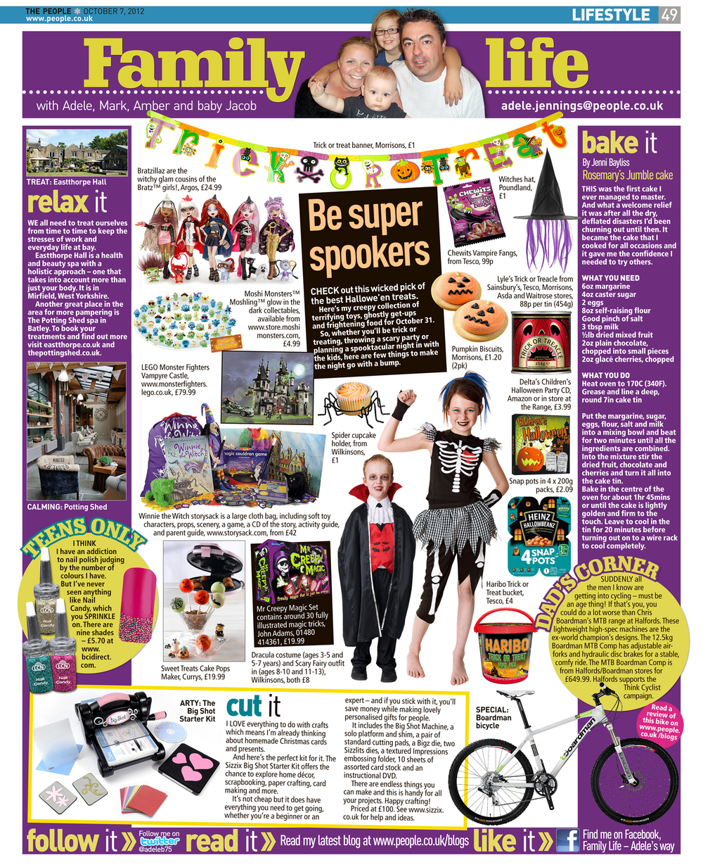 Published in The Sunday People, October 7, 2012
