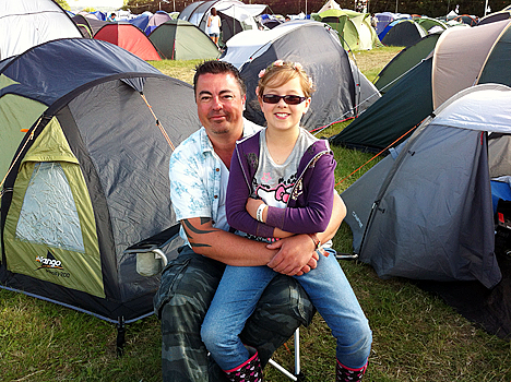 Mark and Amber at The Hop Farm festival 2012