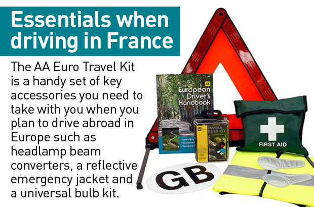Don't forget your AA Euro Travel Kit from Halfords