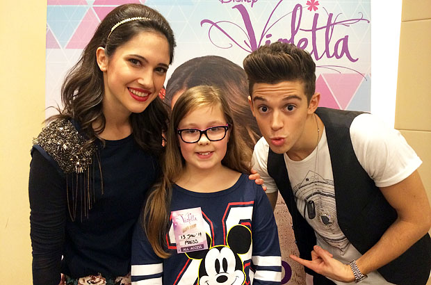 Amber with Lodovica (Francesca) and Ruggero (Federico) from Violetta