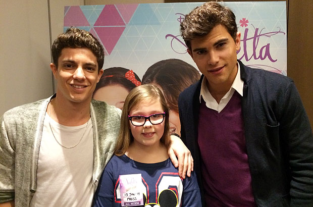 Amber with Facundo (Maxi) and Diego (Diego) from Violetta