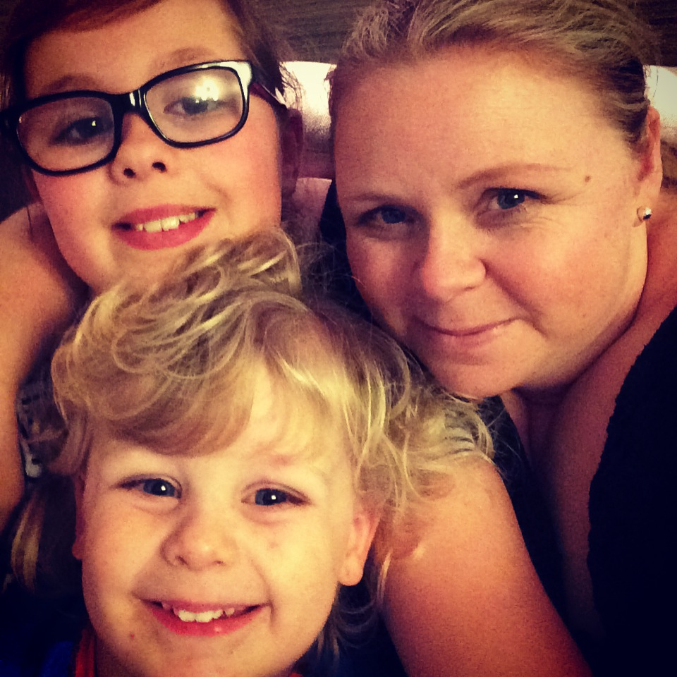Amber, Jacob and camera shy mummy!