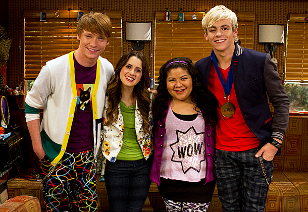 Disney Channel's Austin & Ally starring: Calum Worthy, Laura Marano, Raini Rodriguez, Ross Lynch
