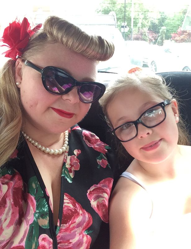 Adele and Amber all dressed up for the Back to the Future Secret Cinema event.