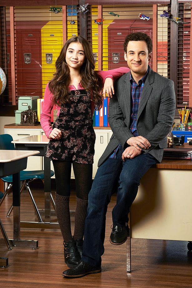 Disney Channel's 'Girl Meets World' stars Rowan Blanchard as Riley Matthews and Ben Savage as Cory Matthews.