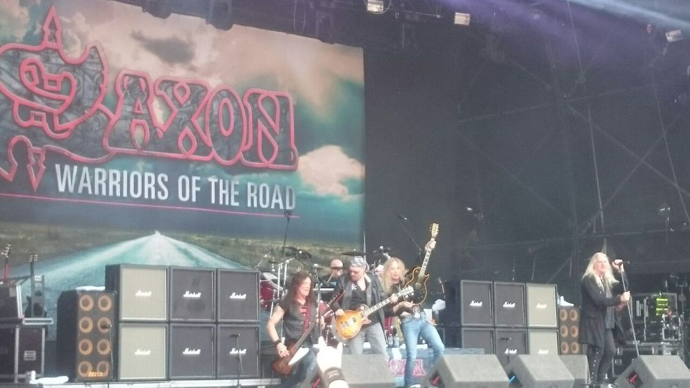 NWoBHM heroes Saxon on stage