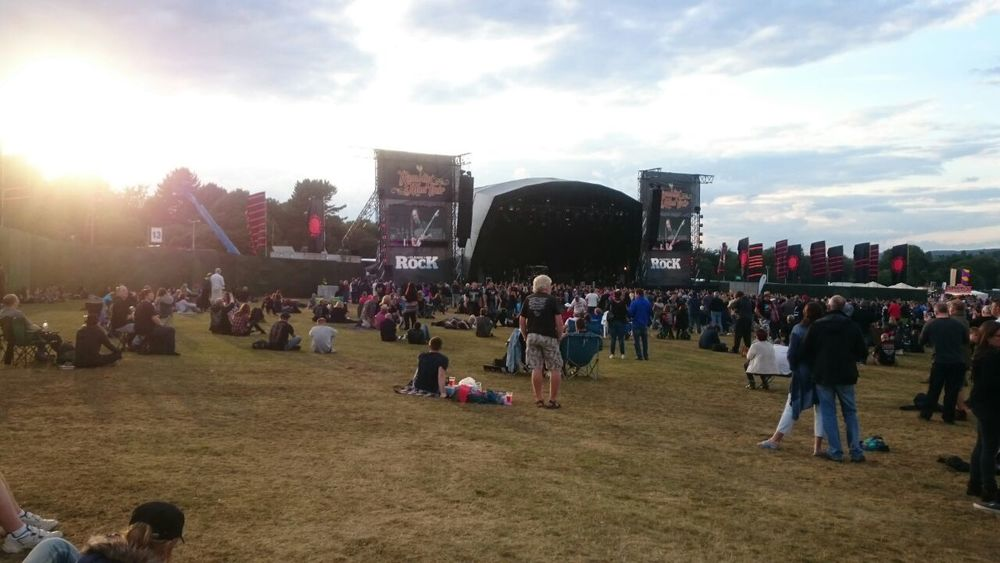 The main Classic Rock stage at Ramblin' Man Fair, Maidstone, Kent