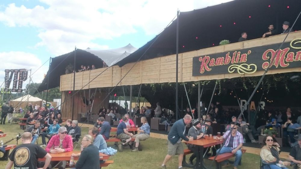 VIP and exclusive Founders Club at Ramblin' Man Fair, Maidstone, Kent