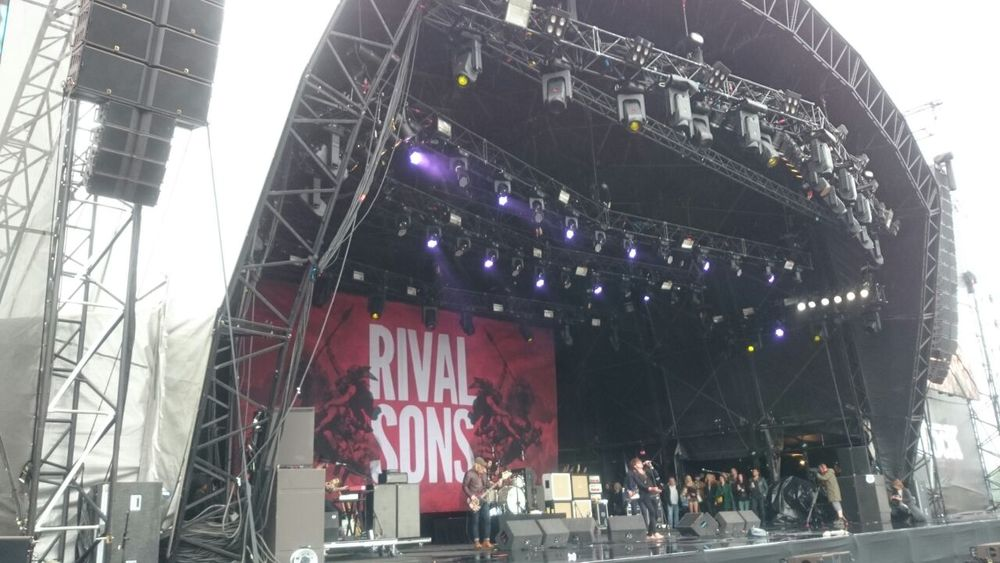 Rival Sons introduced by Vic Reeves who was spotted with his wife Nancy dancing!