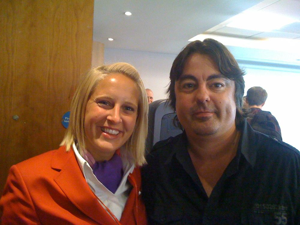 Mark with the one of the cabin crew/team leaders Claire Dyer.