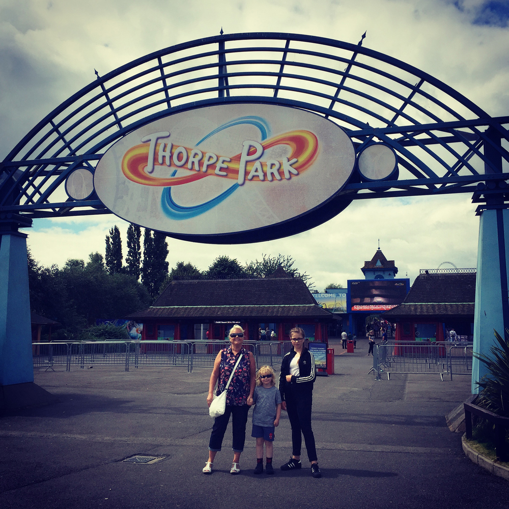 Just about to go into Thorpe Park. Very excited!