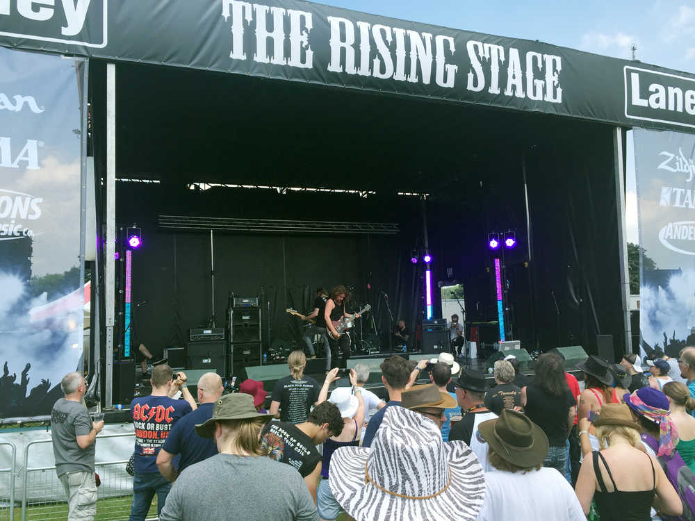 Leogun on the 'Rising Stage' at Ramblin' Man Fair