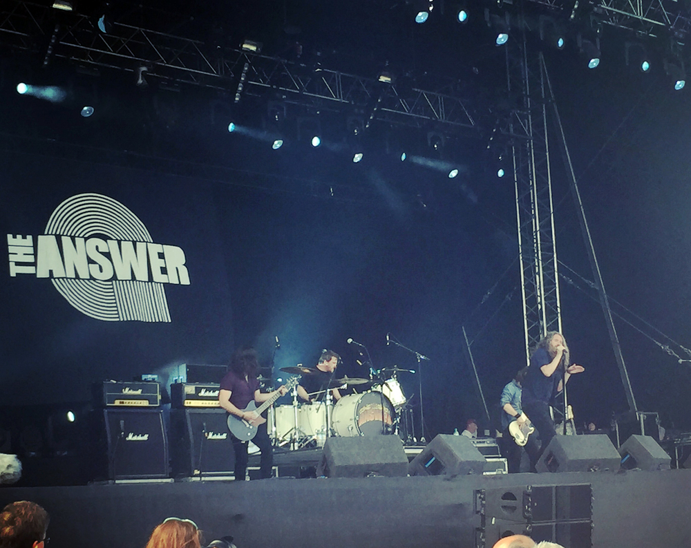 The Answer belting out one of their tracks 'Under The Sky' at Ramblin' Man Fair