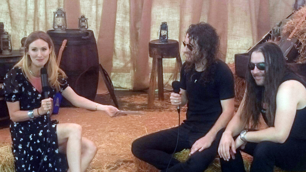 Airbourne being interviewed by Kylie Olsson