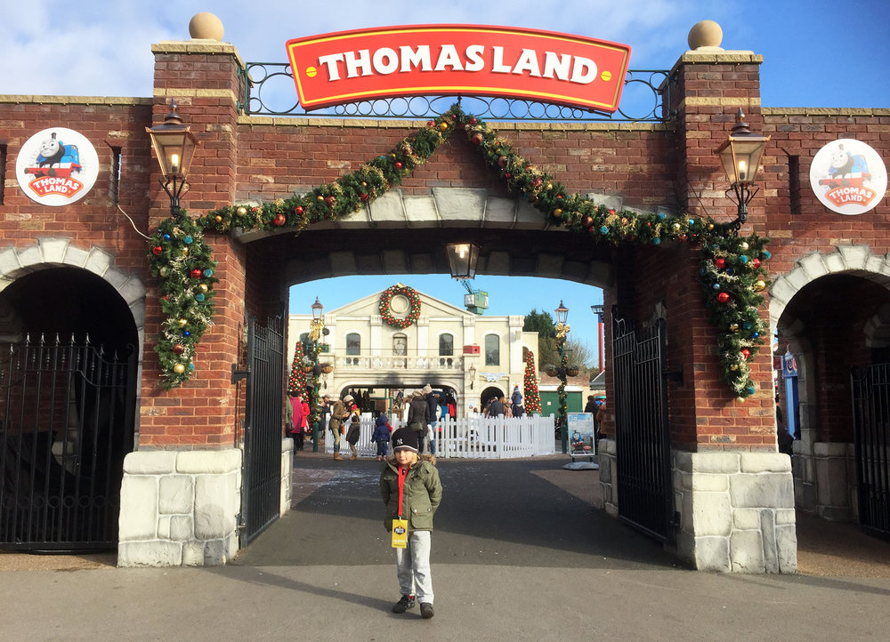 Jacob excited to be visiting Thomas Land