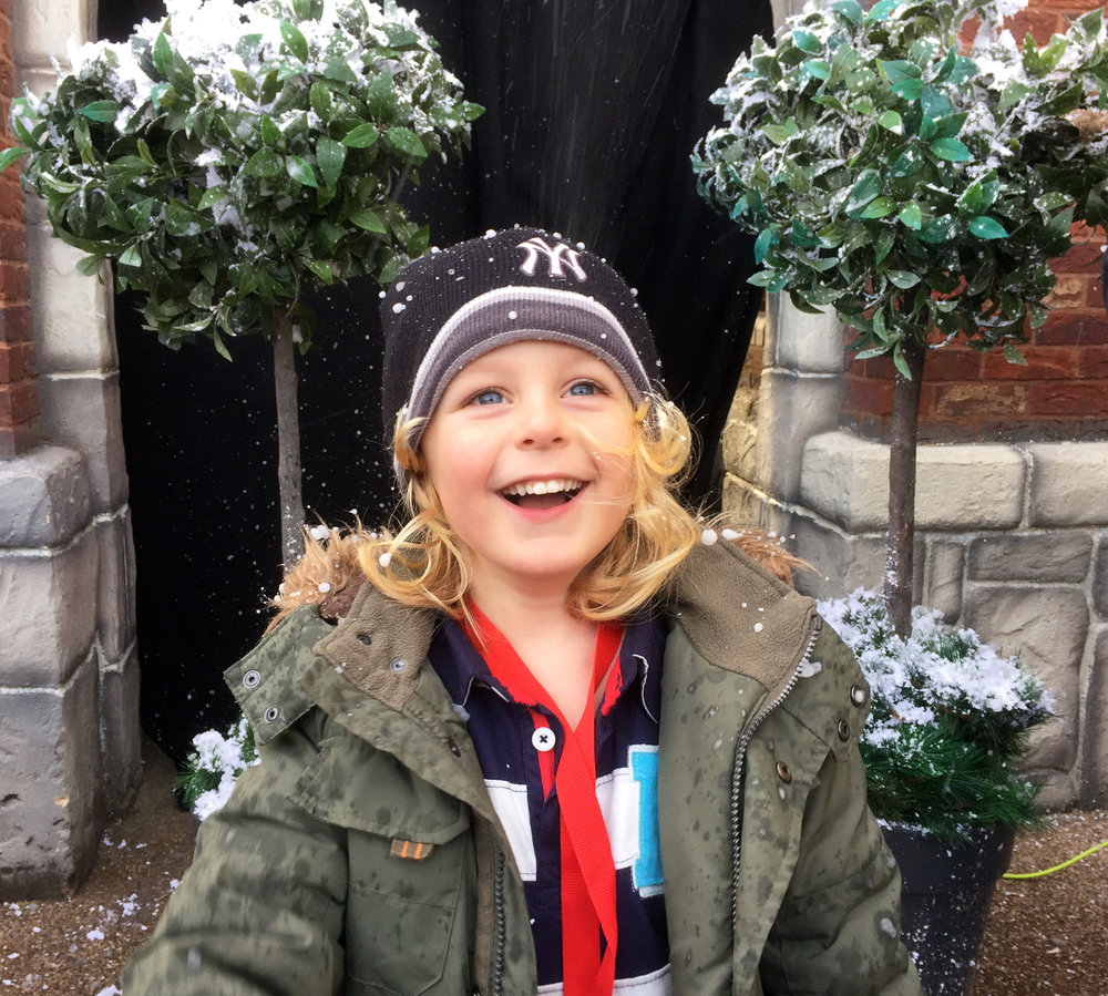 Let it snow, let it snow, let it snow! Jacob loved the 'snow'