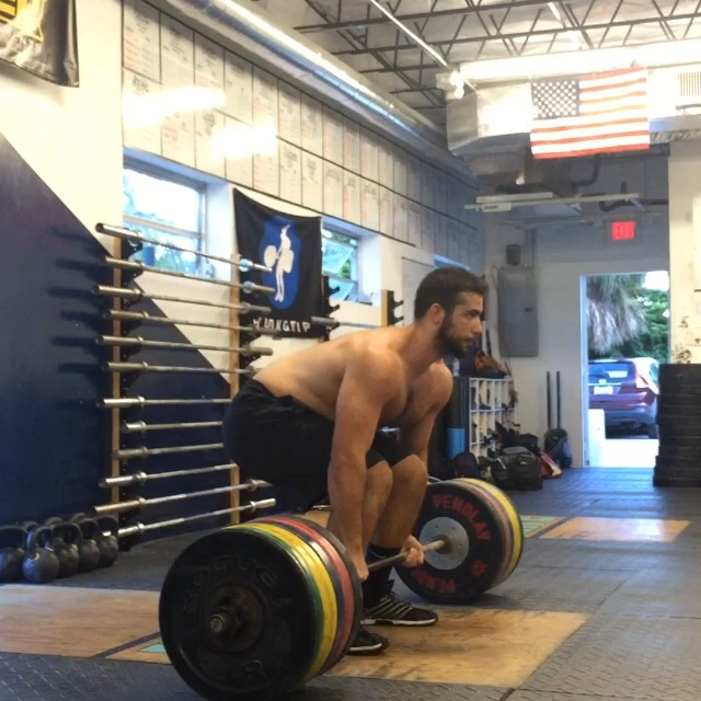 Nick S. With 570x3 on deadlift today. Video on Instagram #CrossFitHYPE
