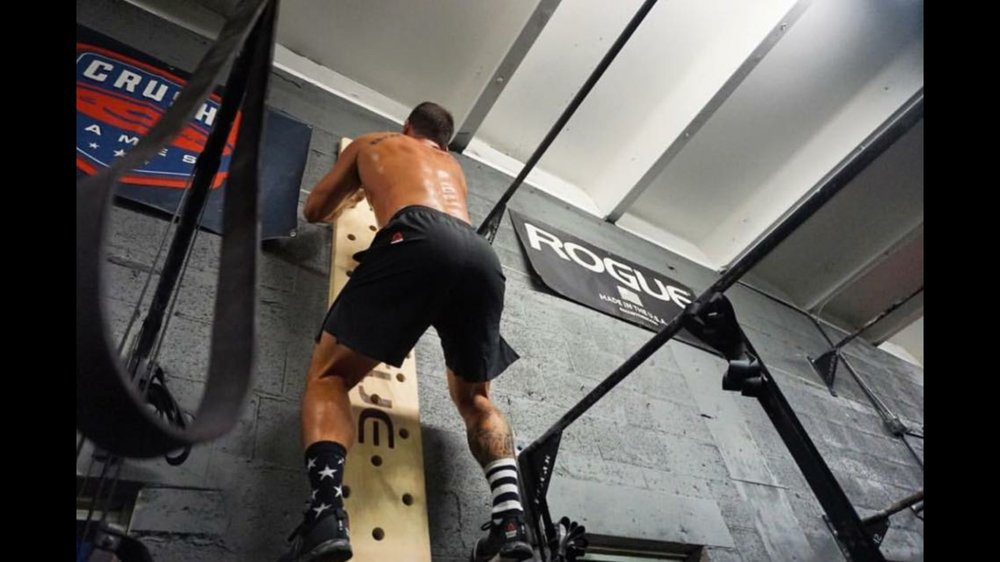 Ben Rosen on the Rogue Fitness Pegboard at CrossFit HYPE / 100 W. Royal Palm Rd, Boca Raton, FL 33432