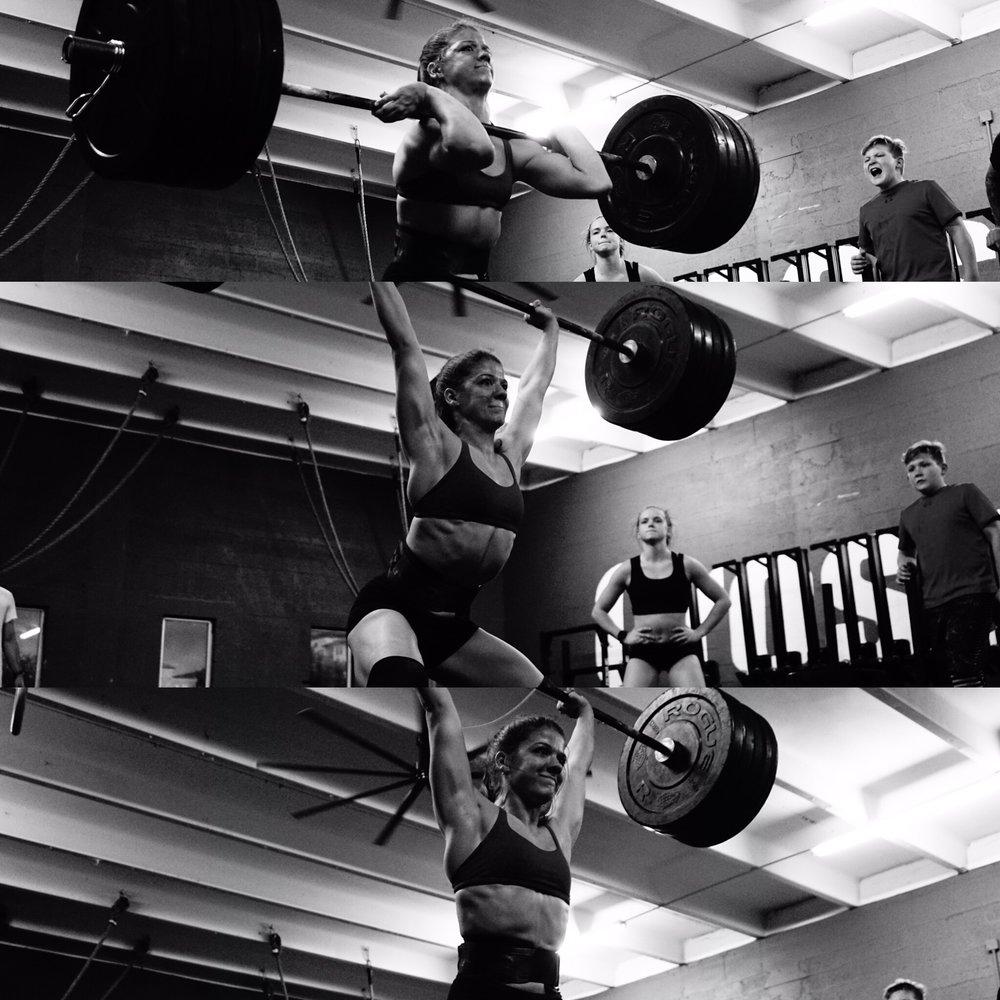 Kaela Stephano, CrossFit Games Teens Champ, 205lbs clean and push jerk- CrossFit HYPE