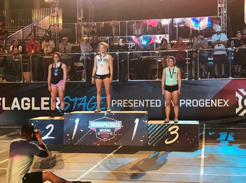 Kaela Stephano - Crossfit Games Champion comes in 3rd at Wodapalooza teens 16-18 division