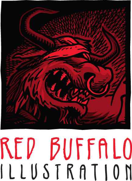Red Buffalo Illustration