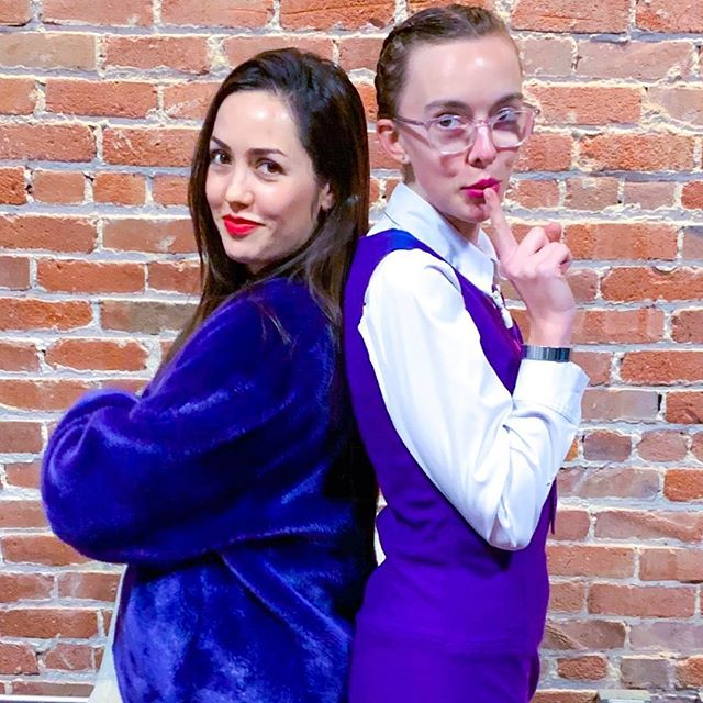 Purple vives with my dear @emerald.klauer 🦄☂️🎆🔮💜
