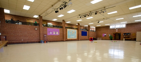 The large indoor gym means that kids get lots of opportunity for physical play, even if the weather is less than ideal.