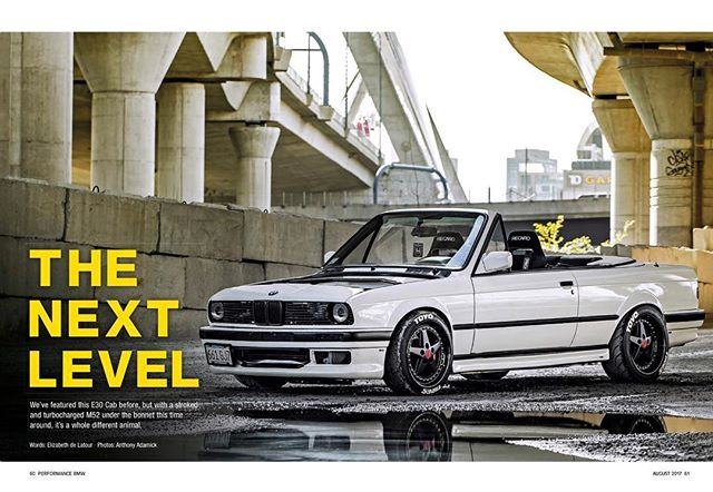 I have a deep love for cars and every once in a while I shoot one. Take a look at Performance BMW Magazine this month where my photos and this big turbo E30 cab are featured.  #bmwe30 #bigturbo #stancenation #toyotires #beastcoast #killeverygram