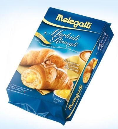 Melegatti Croissant Alla Crema Pasticcera