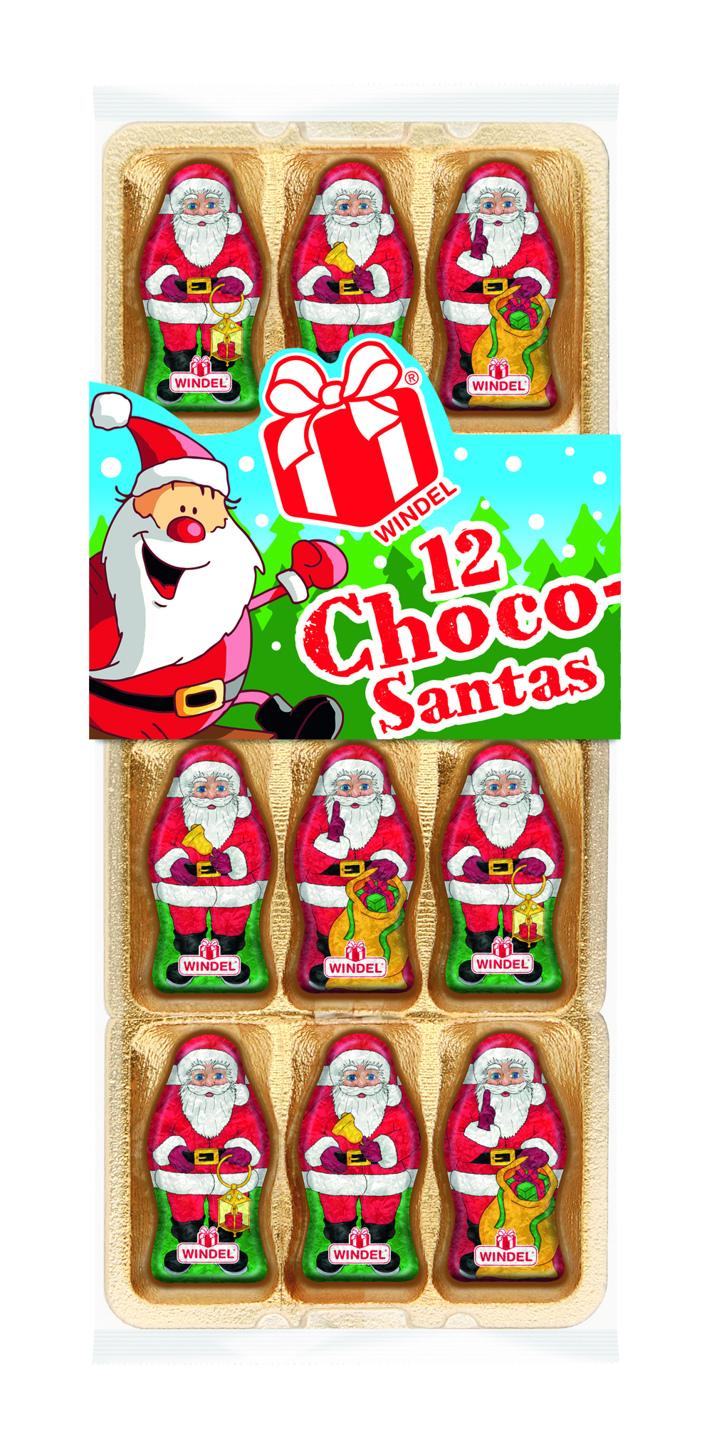 Windel Chocolate Santas