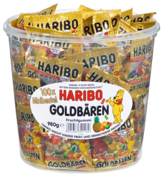 HARIBO Fruit Gummy Bears Tub