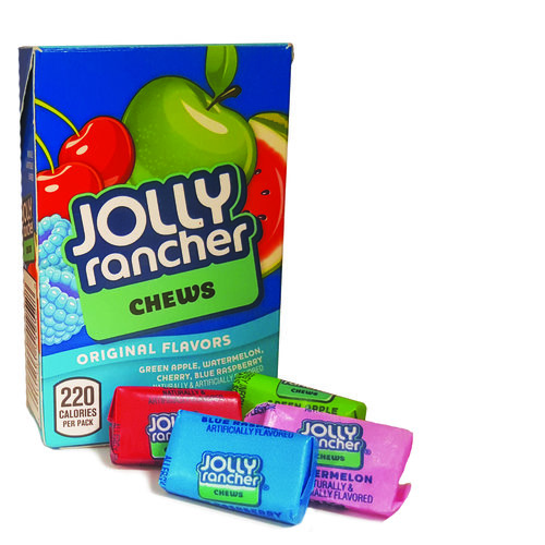 Jolly Rancher Chews - Green Apple, Blue Raspberry, Cherry, Watermelon
