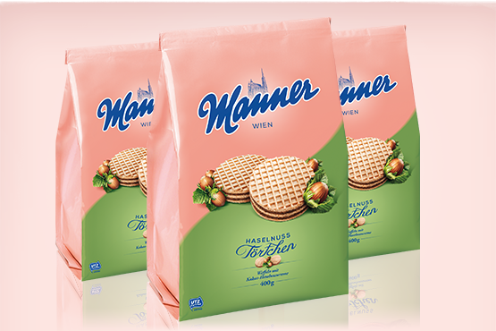 Manner Cocoa-Hazelnut Cream Tartlets