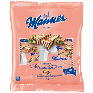 Manner Original Neapolitan Mini Wafers