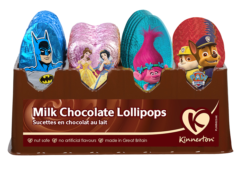 Kinnerton Milk Chocolate Lollipops