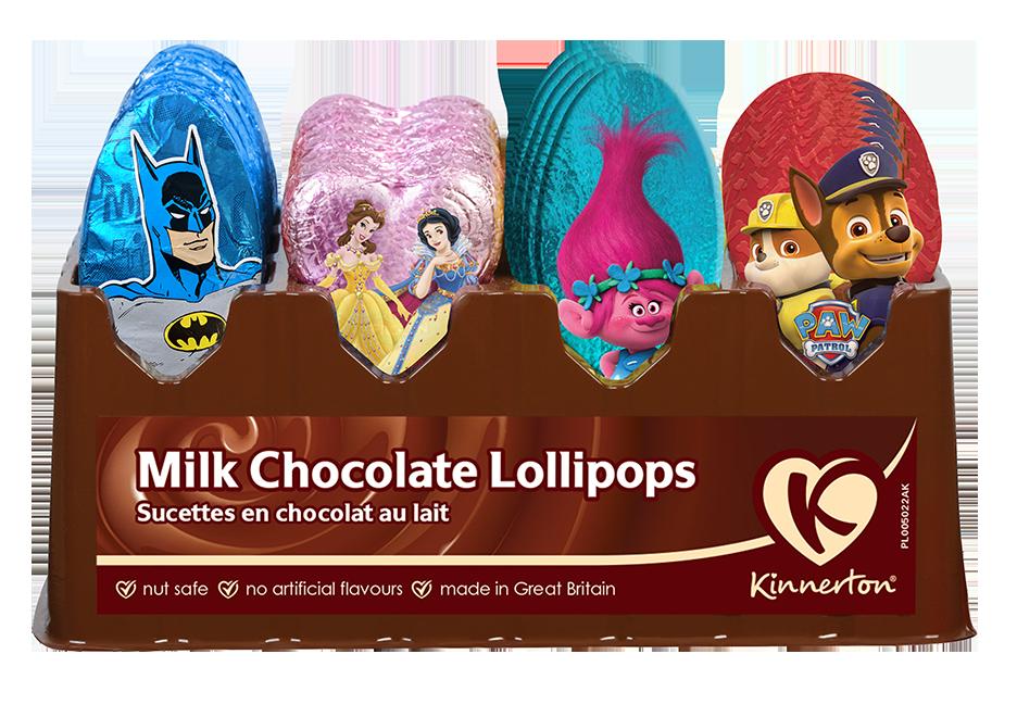 Kinnerton Milk Chocolate Lollipops