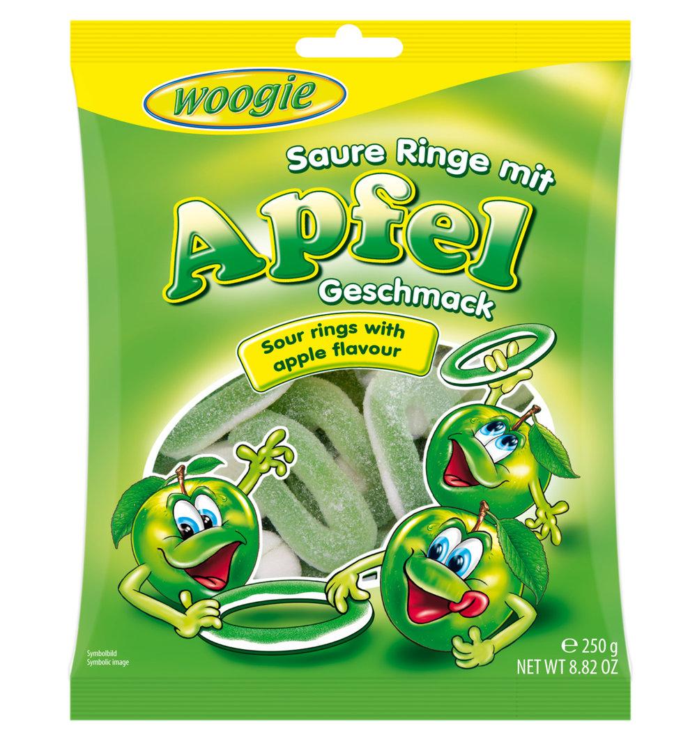 Woogie Sour Apple Ring Gummies