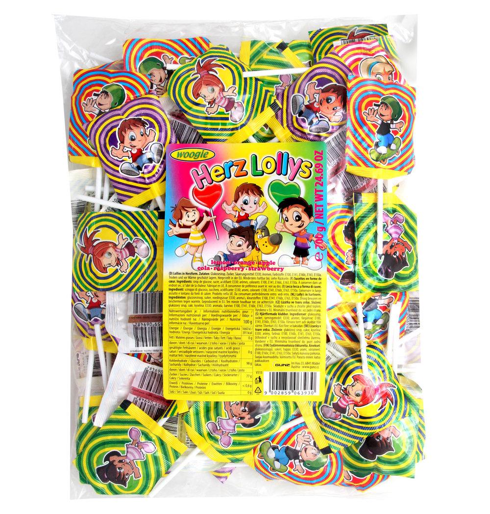 Woogie Heart Shaped Lollipops