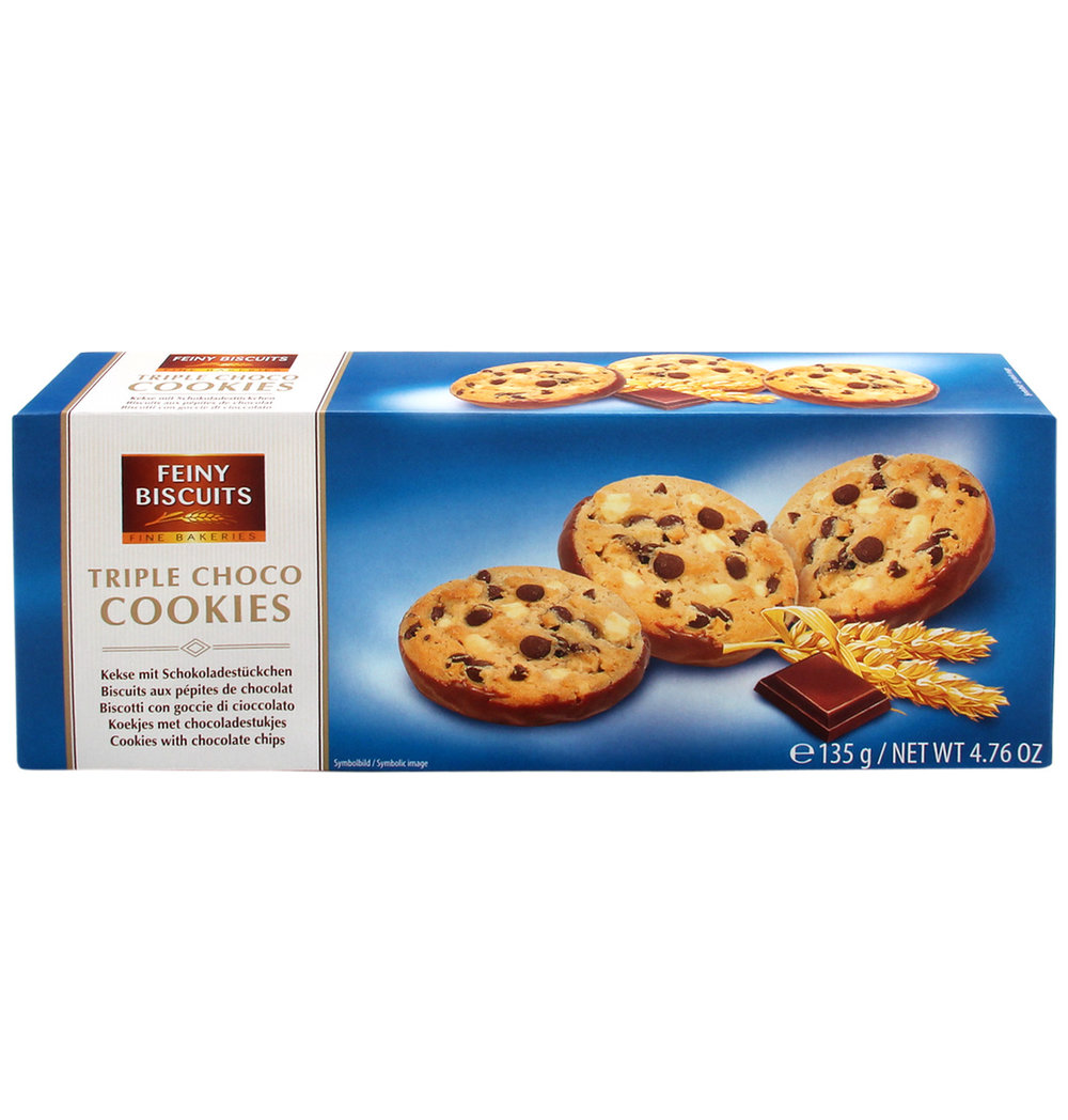 Feiny Biscuits Triple Choc Cookies