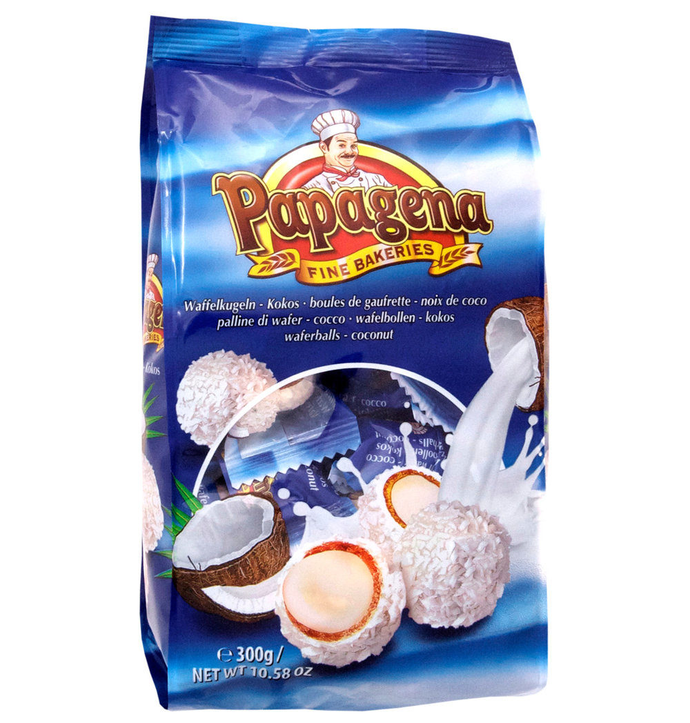 Papagena Coconut Wafer Balls