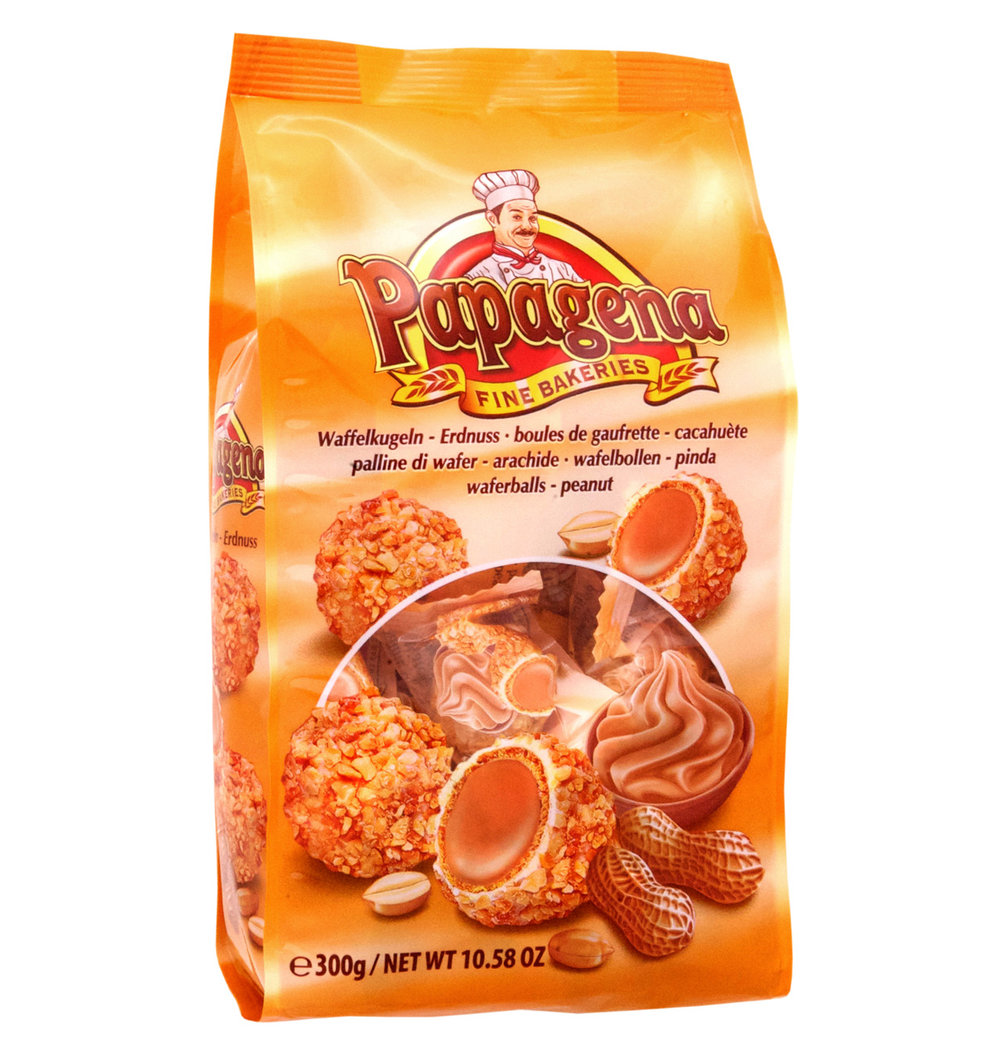Papagena Peanut Wafer Balls