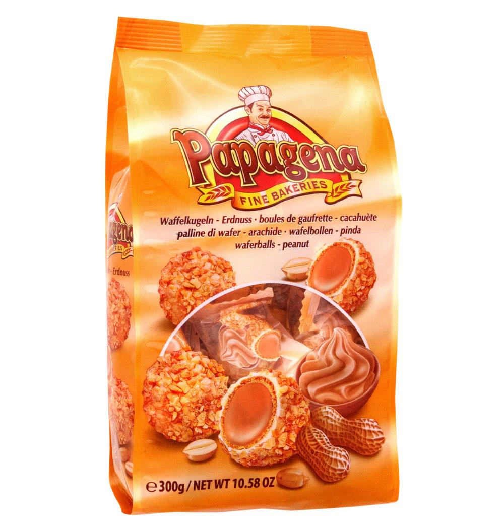 Papagena Peanut Wafer Balls